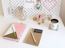 styling my home office with gold desk accessories plus 20