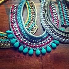 handmade necklace tutorial images Diy crochet necklace buscar con google jewelry bijou jpg