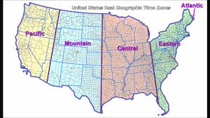 Time Zones Map United States by Texas Time Zone Map