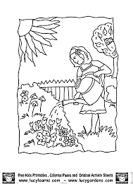 garden coloring pages kids coloring