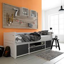 Single Storage Beds Sofa Kids Bed With Storage Plans And Bookshelf Underneath Drawers