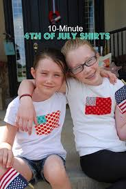 10 minute 4th of july shirts tutorial