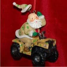santa atv personalized ornaments by