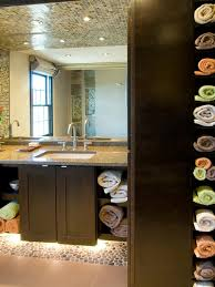 handmade oak unfinished bathroom storage idea with freestanding