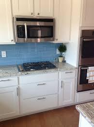 kitchen backsplash blue subway tile marvelous light images design