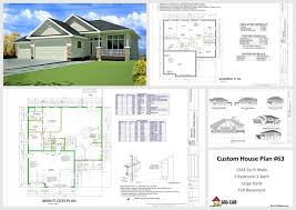 house and cabin plans plan 63 1541 sq ft custom home design dwg