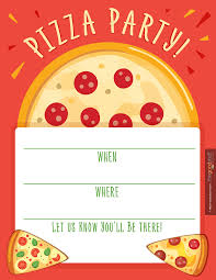Party Invitation Card Pizza Party Invitations Theruntime Com