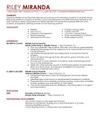 Teachers Resume Example Best Summer Teacher Resume Example Livecareer