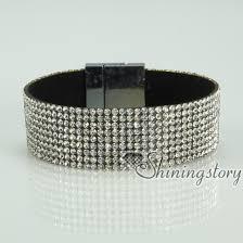 bracelet color crystal images Blingbling shiny crystal rhinestone magnetic buckle wrap slake jpg