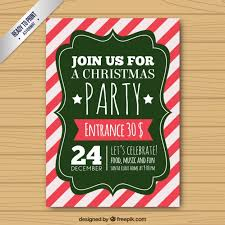 vintage christmas party poster on a striped background vector