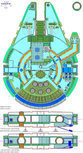 millenium falcon floor plan star wars deckplans alliance old ship gallery