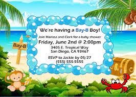 ocean theme 2 baby shower invitation kustom kreations