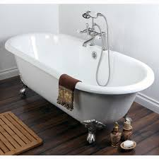 furniture home double ended cast iron inch clawfoot bathtub with