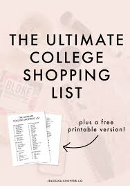 Shipping Stuff To College The Ultimate College Shopping List Jessica Slaughter