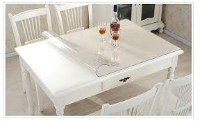 nappe cuisine plastique transparent en plastique nappe pvc souple table en verre