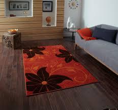Verona Rug Hand Carved Effect Floral Design Rug Verona Large Floor Mat