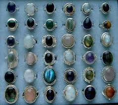 silver rings stones images With stones jpg