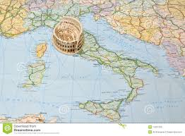 Map Of Florence Italy Colosseum Rome On Italy Map Miniature Souvenir Stock Photo