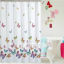Shabby Chic Shower by Waterproof Beautiful Butterfly Shabby Chic Shower Curtain