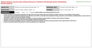 medical billing and coding cover letter sample