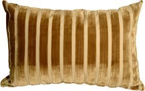 velvet stripes 16x24 gold throw pillow from pillow decor