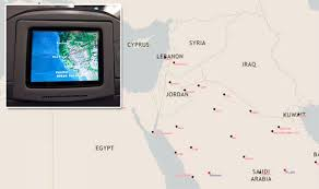 kuwait on a map why does not appear on airline route maps travel