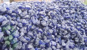 natural clear colored cobalt blue slag glass rocks for gabion and