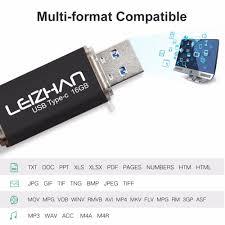 format flashdisk untuk otg leizhan type c usb flash drive 32gb pen drive 16gb pendrive otg
