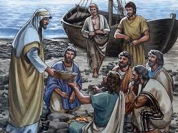 free bible images jesus appears to seven of his disciples by the