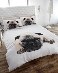 pug puppy cute pooch quilt duvet cover bedding set pillowcase
