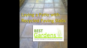 Laying Patio Slabs On Grass Laying A Patio With Re Cycled Paving Slabs Youtube
