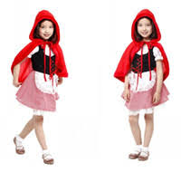 Red Riding Hood Halloween Costume Kids Cheap Red Riding Hood Costume Free Shipping Red
