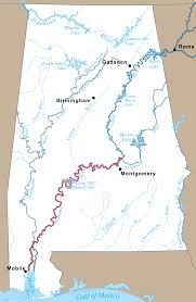 Map Of Alabama Counties Alabama River U2013 Coosa Alabama River Improvement Assn