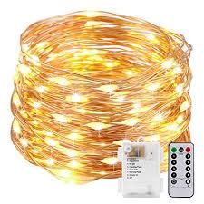battery powered christmas lights amazon amazon com kohree string lights led copper wire fairy christmas