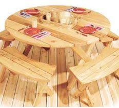 Free Woodworking Plans For Picnic Table by Best 25 Round Picnic Table Ideas On Pinterest Picnic Tables