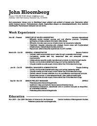 general resume template 30 basic resume templates