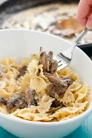 recipes with pasta portobello mushroom pasta with cream sauce the cookie writer