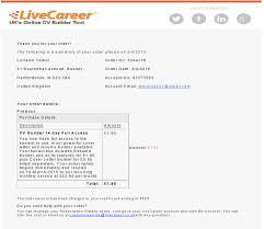 Resume Builder Uk Price Variations Sample Sales Page U0026 Sample Email Confirmation