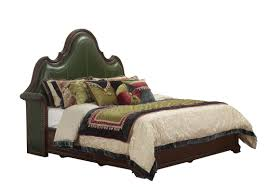 Bedroom Set With Leather Headboard Solid Wood Bedroom Set American Style Bt 2901 Real Leather