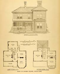 1878 print house architectural design floor plans victorian