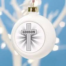 personalised godson christmas bauble personalise with any