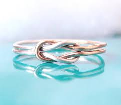 two tone doppelte knoten ring beste freundin ring hug infinity