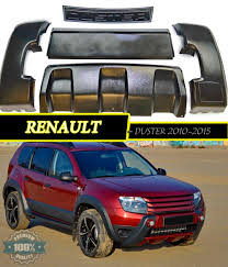 aerodinamic front bumper for renault duster 2010 2015 plastic abs