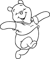 winnie the pooh happy cartoon coloring page wecoloringpage