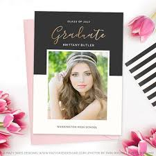 high school graduation invitation high school graduation invitation template for photographers gd160