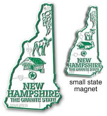 New Hampshire State Map by New Hampshire Giant State Map Magnet