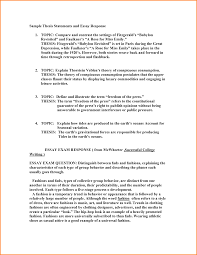 Resume Examples Examples Of A Thesis Statement In An Essay Example Resume Examples Example Thesis For