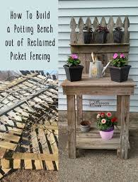 Wooden Potting Benches Reclaimed Wood Potting Bench My Repurposed Life