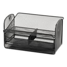 onyx angled mesh steel telephone stand by safco saf2160bl