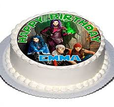 personalised birthday cakes descendants 7 5 inch personalised birthday cake topper